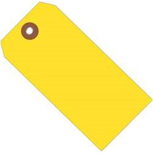 Box Partners G26059 6.25 x 3.12 in. Yellow Plastic Shipping Tags - Pack of 100