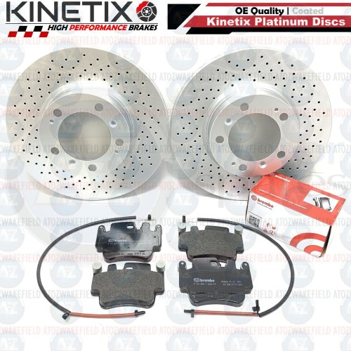 FOR PORSCHE 911 996 997 CARRERA FRONT FRONT DRILLED BRAKE DISCS BREMBO PADS WIRE