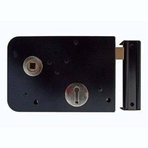 Rim Lock (Left Hand) Rim Sash Lock Black Gate Lock Shed Lock 153mm x 103mm