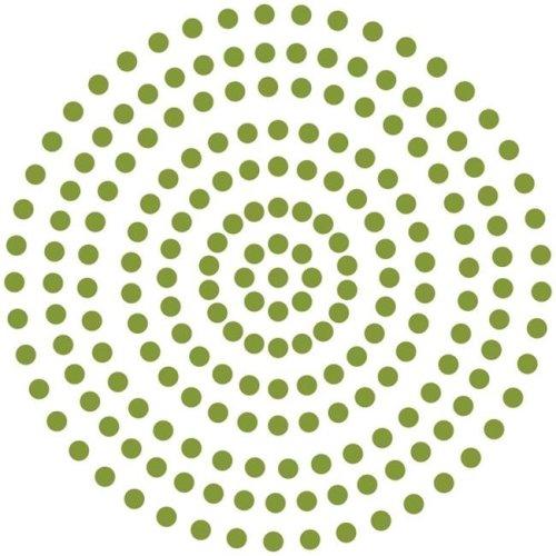 3 mm Self Adhesive Pearls - Grass Green, 206 per Pack