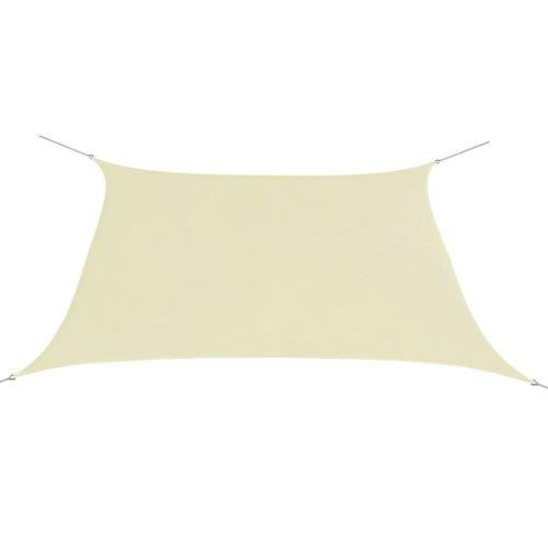 vidaXL Sunshade Sail Oxford Fabric Square 3.6x3.6 m Cream