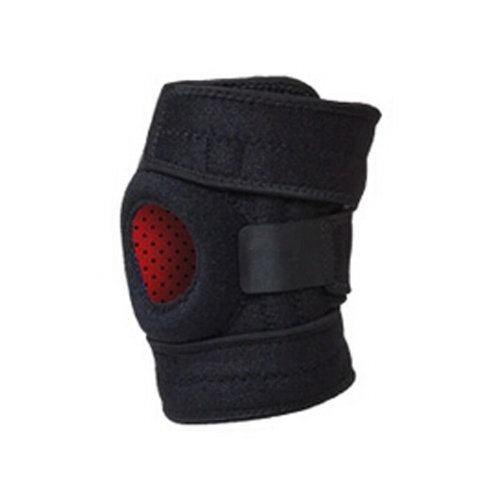Set of 2 Sports Adjustable Silicon Knee Pads Knee Support/Protector Black
