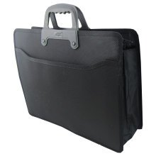 Executive Conference PVC Terylene Laptop Handle Briefcase (37 x 28 x 10cm) BLACK