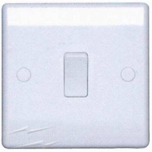 BG Electrical 813 Nexus White 1 Gang Intermediate Plateswitch 10A
