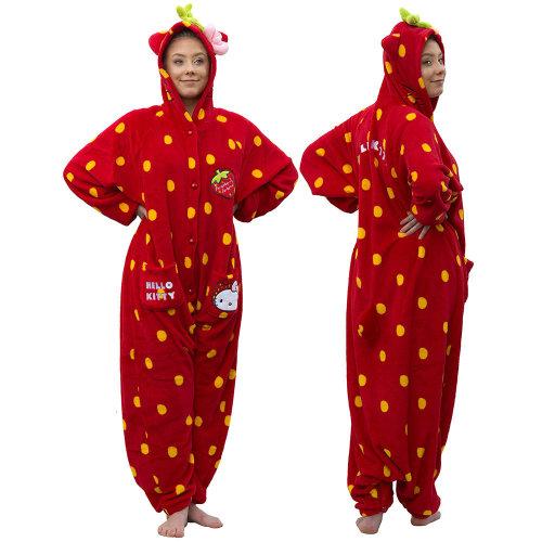 Hello Kitty Tutie Frutie Cutie Strawberry 3-in -Onesie