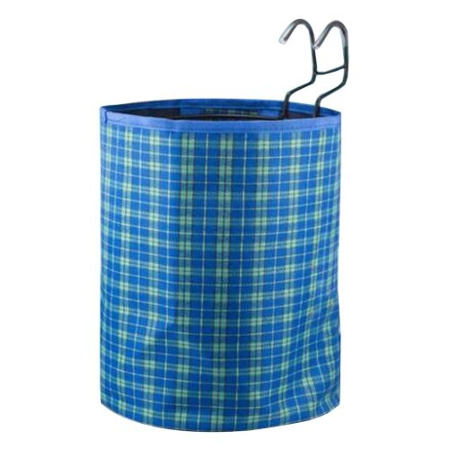 [Plaid-5] Waterproof Canvas Bicycle Basket Foldable Basket for Bike