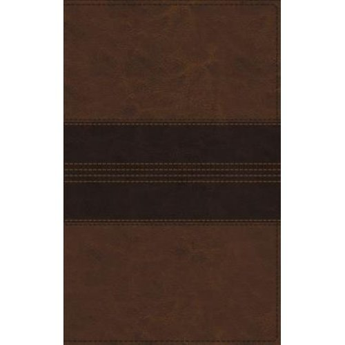 NRSV, Thinline Bible, Large Print, Leathersoft, Brown, Comfort Print