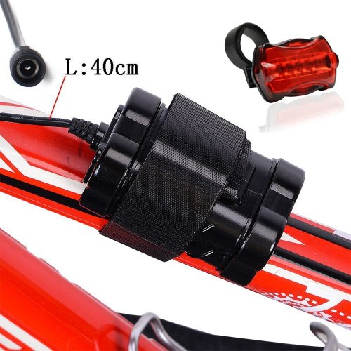 CDC® Rechargeable 4 x 18650 4000mAh 8.4V Bike Bicycle Light Battery Pack with 5 LED Taillight For Cree T6 LED X2 X3 Cycle Cycling Light Headlamp...