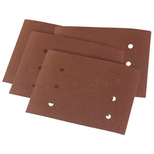 Draper 73522 Ten 115 x 145mm Assorted Grit Aluminium Oxide Sanding Sheets