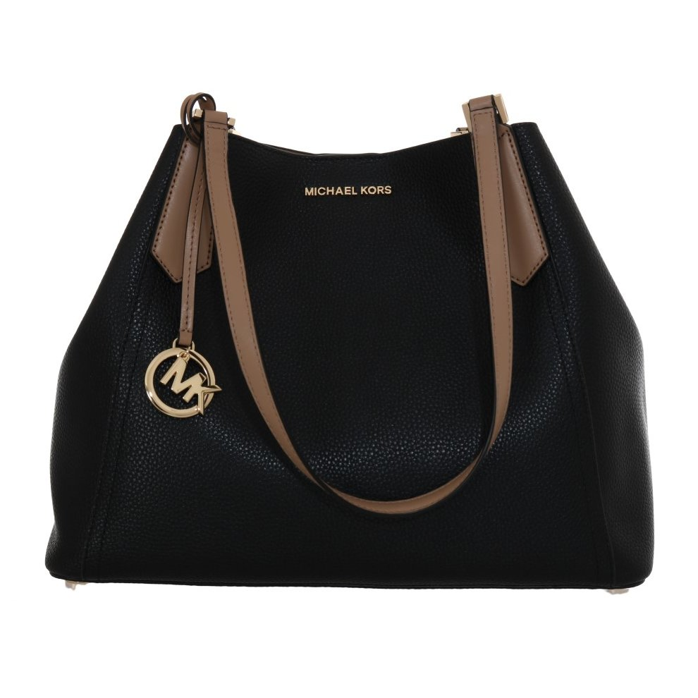21d024e6e4e229 ... Michael Kors Handbags Black KIMBERLY Leather Shoulder Bag - 1 ...