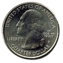 "¼ Dollar ""Washington Quarter"" White Mountain National 2013"