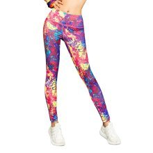 Beautiful Printing Sports Running Fitness Trousers Yoga Pants for Women, #08