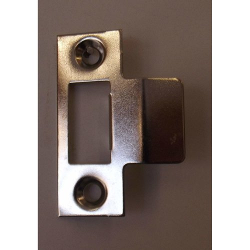 Nickel Plated Mortice Latch Strike Plate