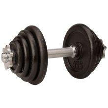 Avento Dumbbell 15 kg Black 41HK