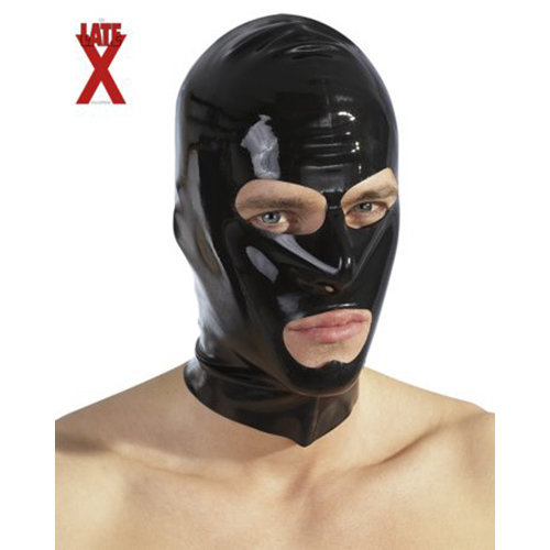 Black latex hood  BDSM Masks - The Latex Collection