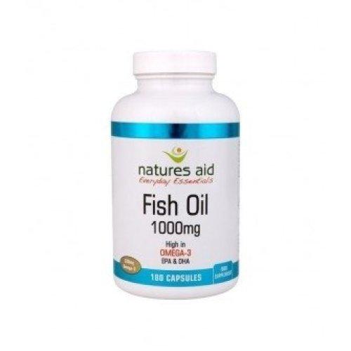 Natures Aid - Fish Oil 1000Mg (Omega 3) Softgels