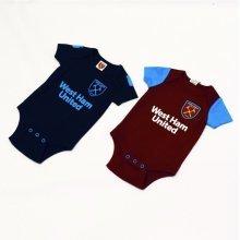 West Ham United Baby Bodysuit - 2017/18 Season (9-12 Months) - Bodysuits 201718 -  west ham united baby bodysuits 201718