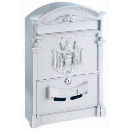 Traditional Post Box White Letterbox Artistic Designer Ashford Rottner