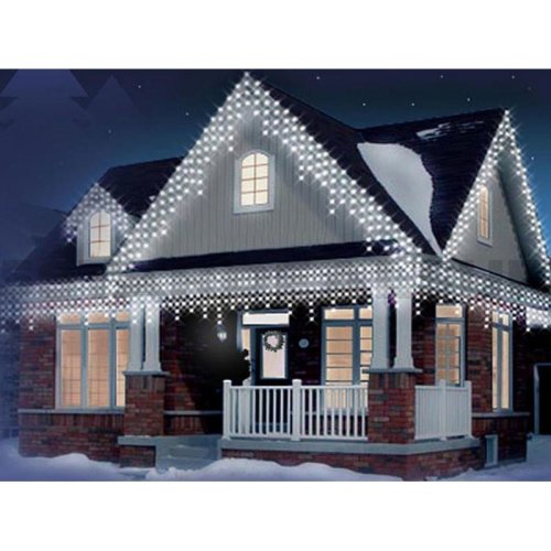 480 LED White Christmas Icicle Snowing Xmas Lights Party Outdoor