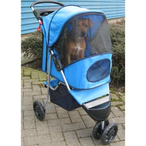Blue Pet Stroller - Lightweight Stylish Pets upto 15kg