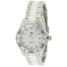 Tag Heuer Aquaracer Stainless Steel and Ceramic Ladies Watch WAY131D.BA0914