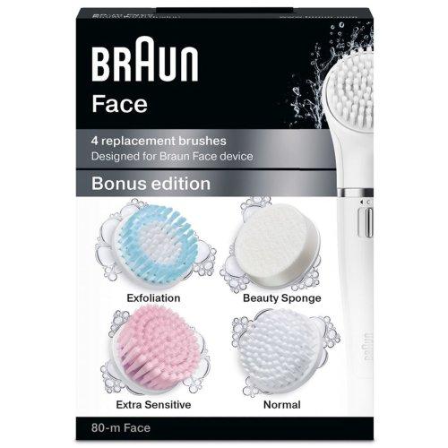 Braun Silk-Epil Face 80-M Bonus Edition - 4 Pack Replacement Brushes Refill SE80