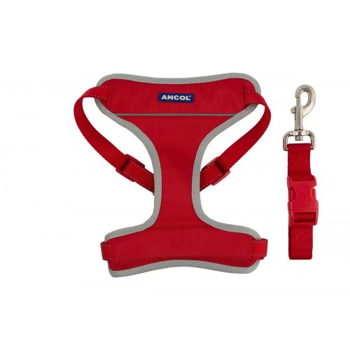 Nylon Travel & Exercise Harness Red Medium 42-66cm