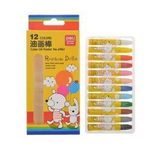 Kids Color Oil Pastel Sticks/Non-toxic Drawing Crayons/Students Stationery,12ct