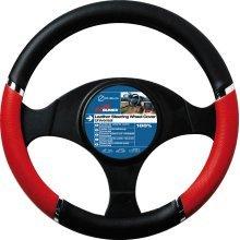37-39cm Red Black Speed Design Wheel Cover - Steering Sumex Pvc Glove -  red steering wheel cover black speed sumex pvc glove