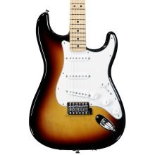 Fender Standard Stratocaster Electric Guitar, Brown Sunburst, Maple