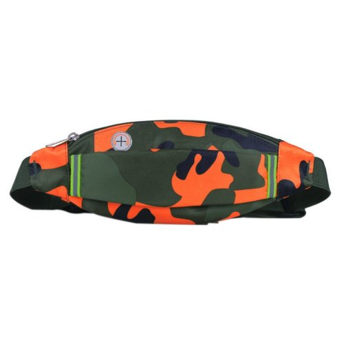 Outdoor Sports And Leisure Large Capacity Fashion Waist Bags, Camouflage Orange