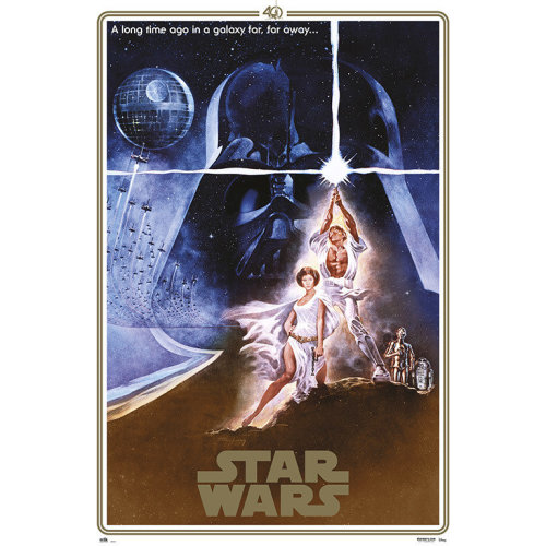Poster Star Wars 40 Aniversario One Sheet A
