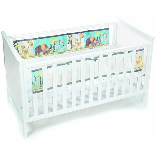 BreathableBaby Printed Cot Liner | 2-Sided Cot Bumper