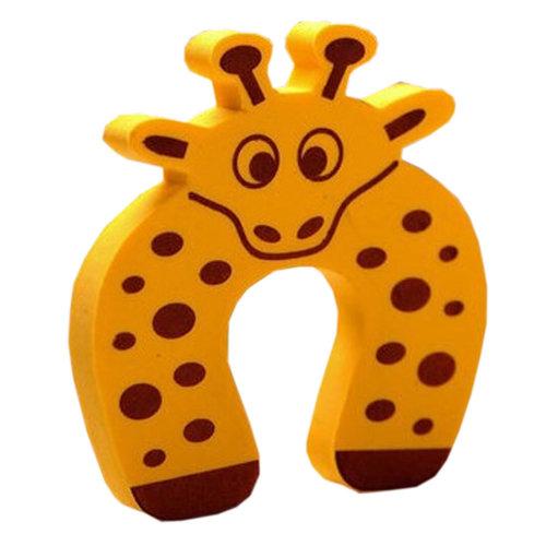 """Set of 5 Lovely Giraffe Elasticity Door Stop Children Cartoon Door Holder 4*0.5"""""""