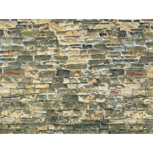 3x Natural Stone Wall Cardboard - Vollmer 46043 - OO/HO decor - free post