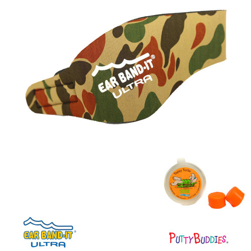 Ear Band-It ULTRA Camo Head Band for Swimming