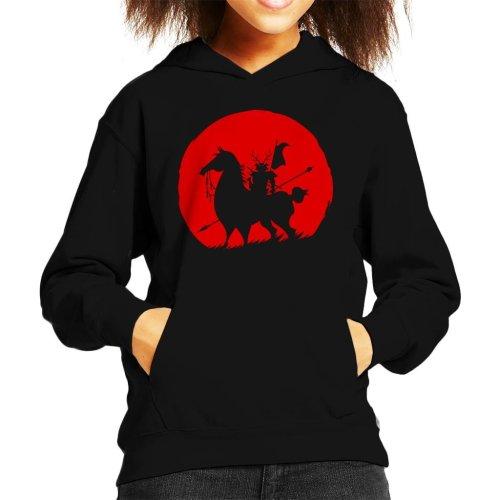 Shadow Warrior Silhouette Samurai Jack Kid's Hooded Sweatshirt