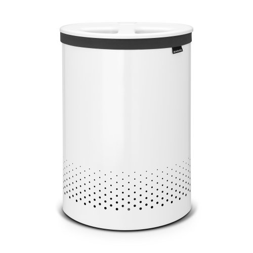 Brabantia Selector Large Double Laundry Bin, 55 L - White