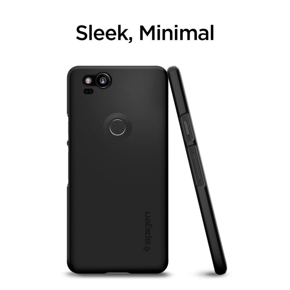 the best attitude a00d5 0ffad Google Pixel 2 Case, Spigen [Thin Fit] [Black] Pixel 2 Case Premium Matte  Finish Coating Slim Protection Phone Case Cover for Pixel 2 (2017) (Not...
