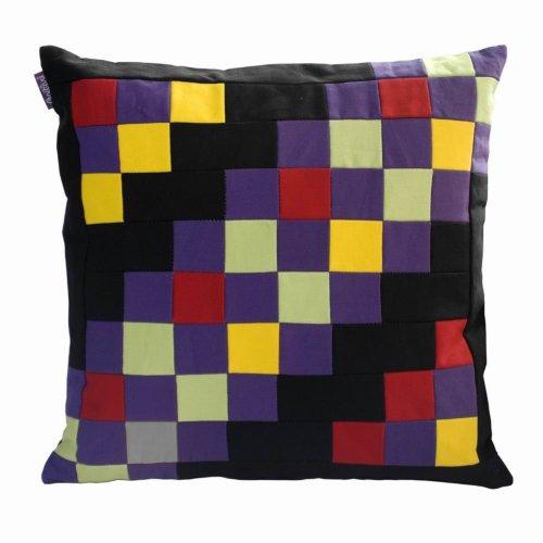 Creative Decorative Pillow Handmade Sofa Bed Throw Pillows Grid Splicing Design