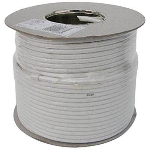 Aerials, Satellites and Cables Ltd RG6 100m Digital Coax Cable for TV - White