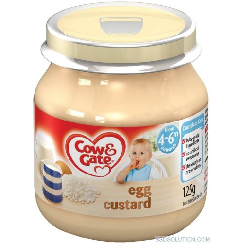 Cow & Gate Egg Custard 4-6 Months (6 x 125g)