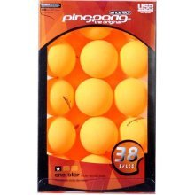 Ping Pong 1 Star Table Tennis Balls - Pack of 38 (Orange)
