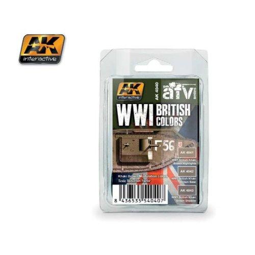 Ak04040 - Ak Interactive Set Wwi British (khaki Brown)