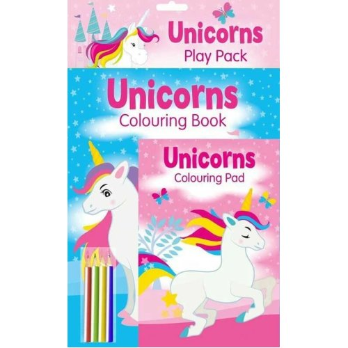 Unicorn Play Pack Colouring Books Comes With 4 Colouring Pencils
