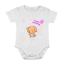 Baby Newborn Cotton Clothing Short sleeve Suit dog smile love animal printing 6M