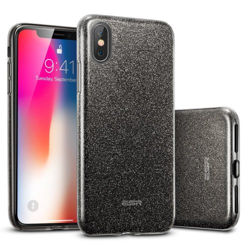 promo code 0dd2b 8de58 ESR iPhone X Case, Makeup Luxury Glitter Case Sparkle Bling Designer  Cover[Three Layer] for Women [Supports Wireless Charging] for 5.8