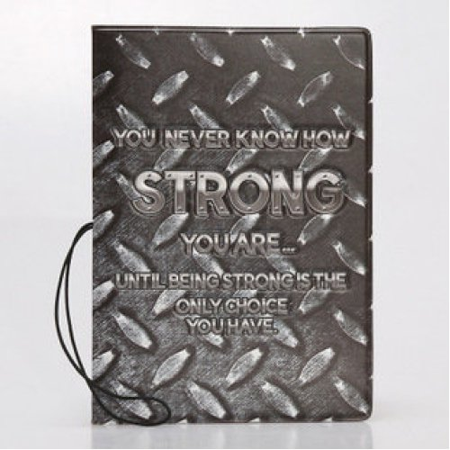 Cool Metal Effect Passport Cover With Ticket Pouch And Elastic Band