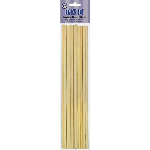 PME Bamboo Dowel Rods, Pack of 12