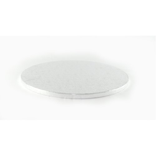 "10"" Silver Round Cake Drum Board 12mm Thick"